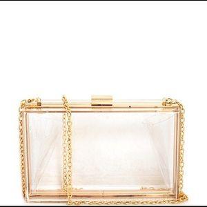 Handbags - Crystal Gold Clutch